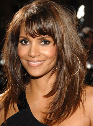 Brown Hair Short Layers. Halle Berry#39;s Layered Hair
