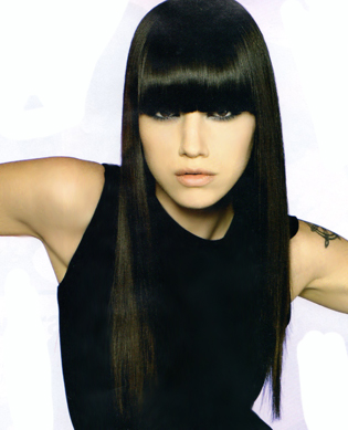 Excellent variant Black hair with fringe properties