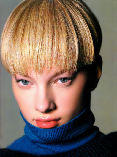 short blonde hairstyles with bangs. Short creamy londe hairstyle