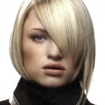 Very Light blonde haircut