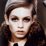 Twiggy with her famous short blonde cropped haistyle
