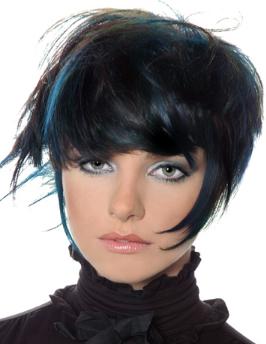Black Hair Blue Streaks My New Hair