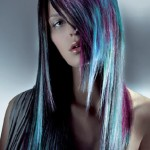 Long hair in bold color