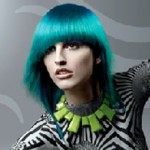 Medium length turquoise blue hair