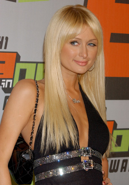 Paris Hilton Long Platinum Blonde My New Hair