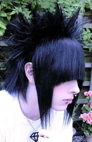 More eccentric emo hairstyle, high upkeep but totally worth it