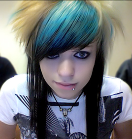 Emo Girl with Awesome Hair Color