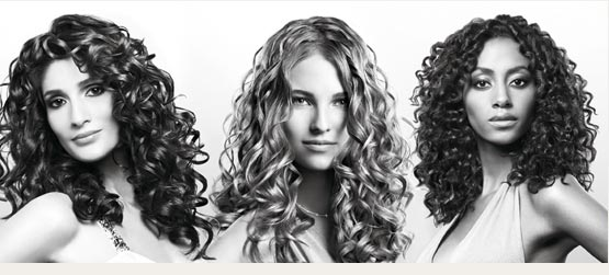 Curly Hair looks best when it is from medium to long length with long layers