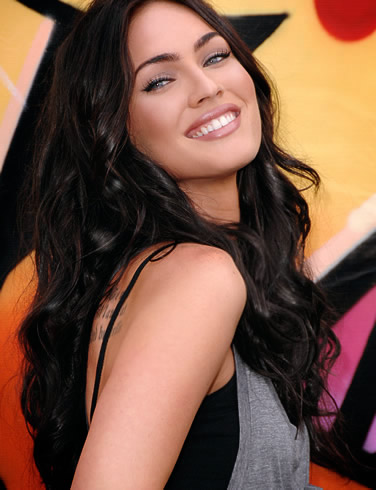 Megan Fox Long Dark hair