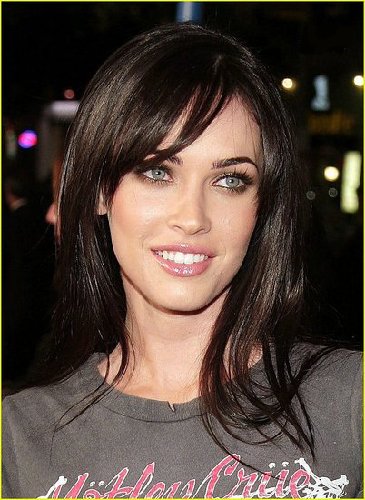 Megan Fox with Side Bangs