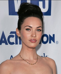 Megan Fox with Her Hair Up