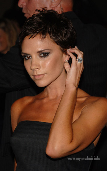 Victoria Beckham At Marc Jacobs With Pixie Haircut My