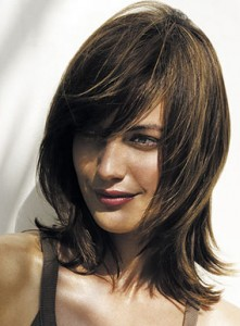 Medium Length Hairstyle With Great Side Sweeping Fringe