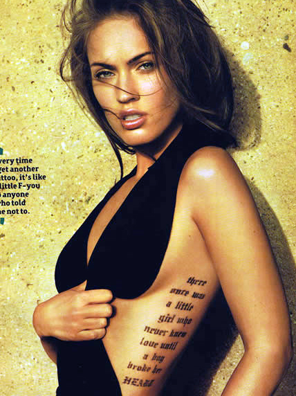 "One Response to ""megan-fox-rib-tattoo"""