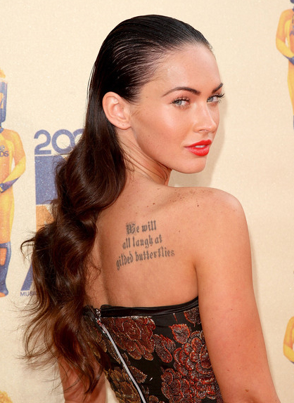 Jorgensen Hall Unl. Megan Fox Tattoos.