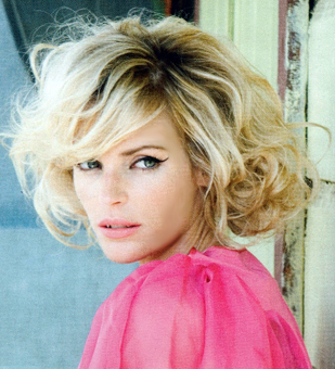 short curly hairstyles with bangs pictures