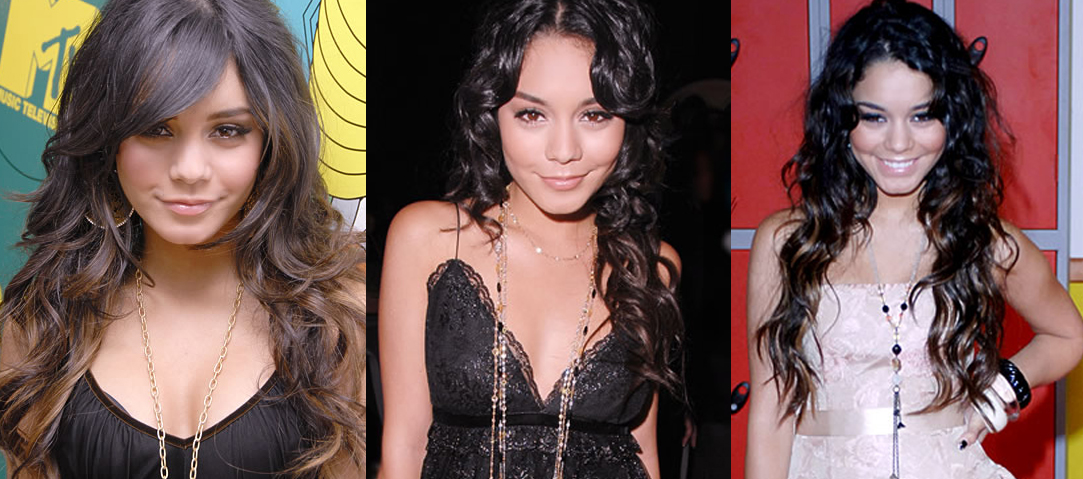 Vanessa Hudgens gorgeous wavy long layered hair