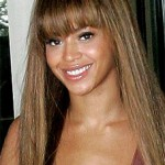 Beyonce Bangs and Straight Hair