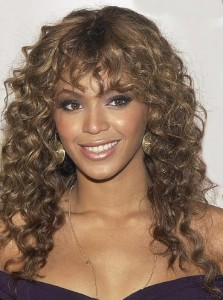 Beyonce's Curls and Bangs