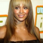 Beyonce with Layered Hair and Bangs