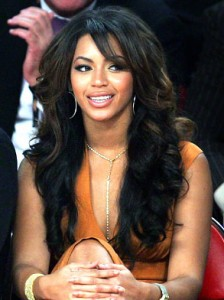 Beyonce's Long Dark Hairstyle