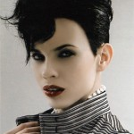 Short Black Hairstyle, Kinda Gothic