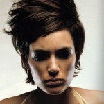 Sculpted Short Hairstyle With Layers