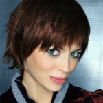 Textured Short Auburn Hairstyle