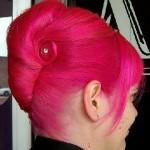 Pink Hairstyle Bun