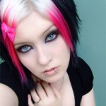 Blonde, Black and Pink Hair