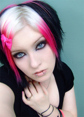 Blonde Black And Pink Hair My New Hair