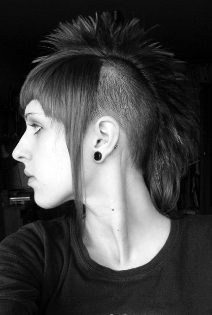 Rusia Tattoos Long Hair Girl Mohawk