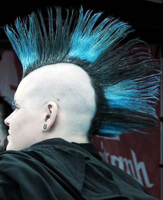 Black Blue Mohawk My New Hair