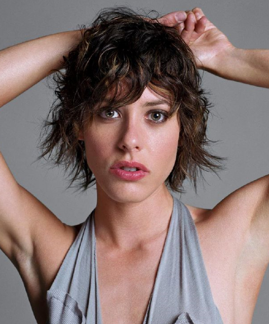 Katherine Moennig with messy, short, textured hairstyle.