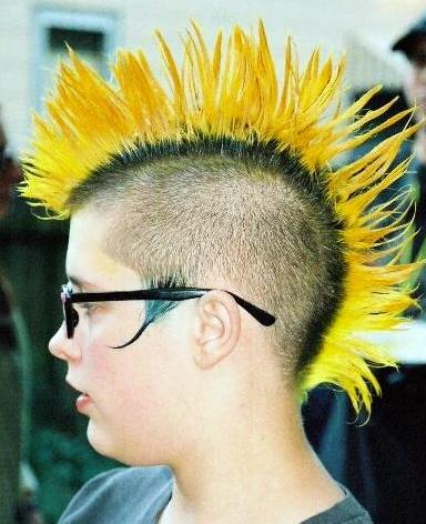 Yellow Mohawk My New Hair