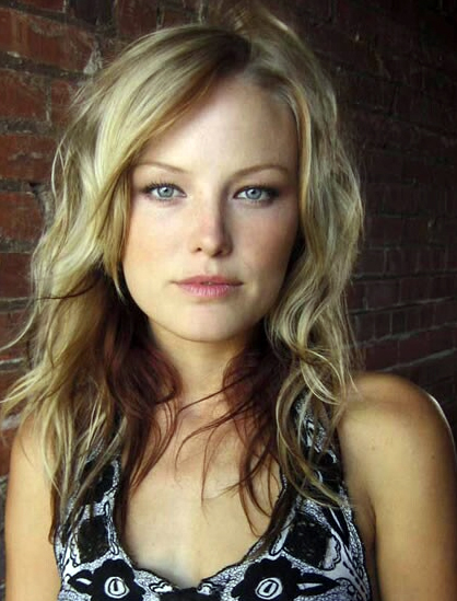 blonde hair layers. Malin Akerman with long blonde hair, heavily highlighted and long layers.