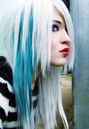 01 blue hair my new hair