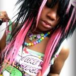 black-pink-scene-hair