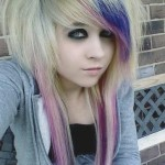 blonde-pink-purple-scene-hair