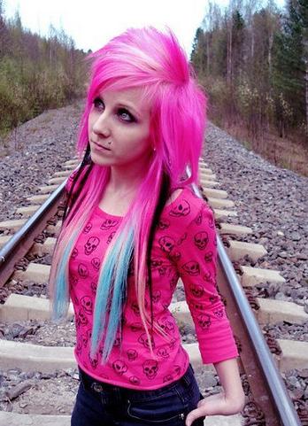 Alt Hair! (alternative styles) Pink-scene-hair