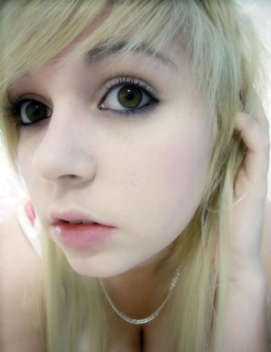 Cute blonde emo girl
