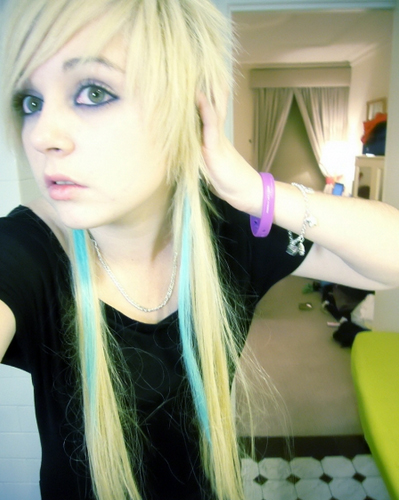 or you can try black and blonde emo hair