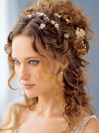 Wedding Hairstyles Curled  on Wedding Hairstyle Half Up And Half Down With Gorgeous Natural Curls