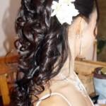 Half down curls