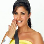 Katrina Kaif with long hair in ponytail