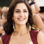 Katrina Kaif with big gold earrings