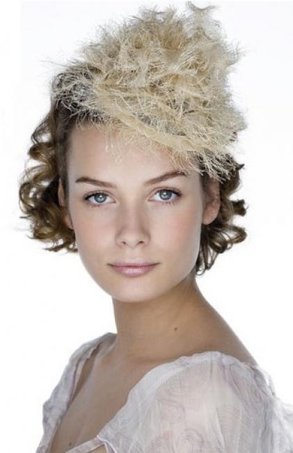 Wedding Hats For Short Hair: Short-hair-wedding-hat