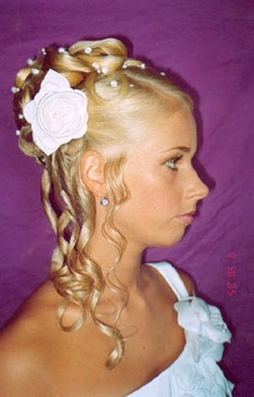 updoweddingcurlsflowers Posted under Bride updo with flowers