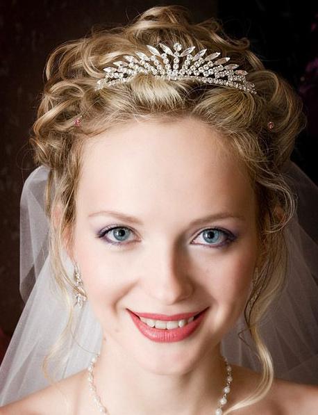 Wedding Hair Down With Veil And Tiara : Wedding hair with veil my new