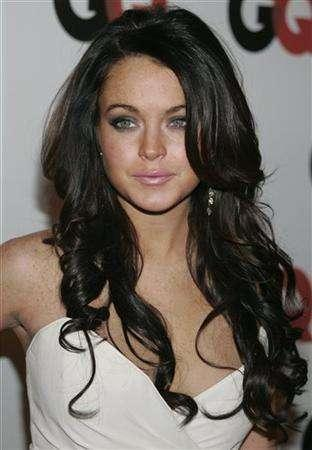 Lindsay Lohan Dark Curls My New Hair